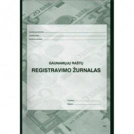 Gaunamų raštų registravimo žurnalas A4, vertikalus, 40 lapų perrištas