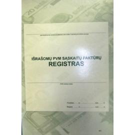 Išrašomų PVM sąskaitų-faktūrų registras A4, vertikalus, 48 lapų perrištas