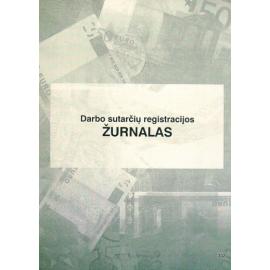 Darbo sutarčių registravimo žurnalas A4, vertikalus, 12 lapų perrištas