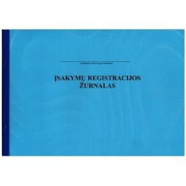 Įsakymų registravimo žurnalas A4, horizontalus, 12 lapų perrištas