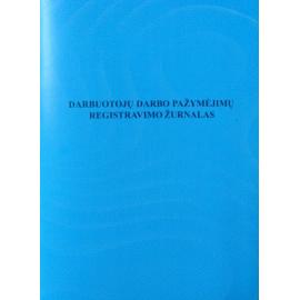 Darbuotojų darbo pažymėjimų registravimo žurnalas A4, vertikalus, 12lapų