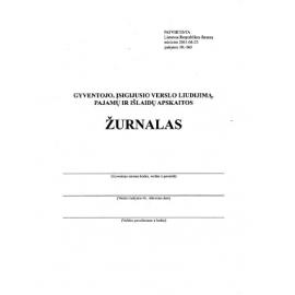 Gyventojo, įsigijusio verslo liudijimą, pajamų ir išlaidų apskaitos žurnalas, A5/36 l.