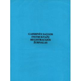 Gaisrinės saugos instruktažų registracijos žurnalas A4, vertikalus, 12 lapų