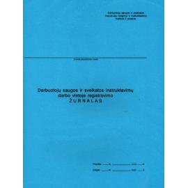Darbuotojų saugos ir sveikatos instruktavimų darbo vietoje registravimo žurnalas A4, vertikalus, 22 lapai