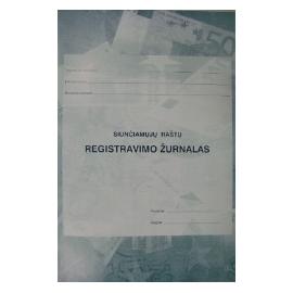 Siunčiamų raštų registravimo žurnalas A4, vertikalus, 40 lapų perrištas