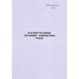 Statinio techninis (techninis-energetinis) pasas A4, vertikalus, 8 lapai (1 priedas)