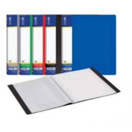 Aplankas su įmautėmis EconoMix A4, 60 įmaučių, juodos spalvos, plastikinio viršelio storis - 800mikronų